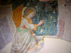 Angel blessing fresco Small